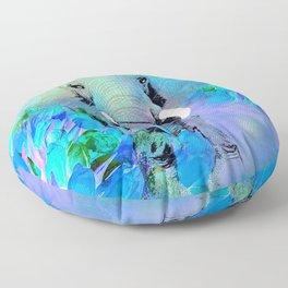 ELEPHANT BLUE Floor Pillow