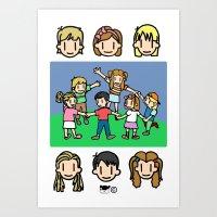 Niños Art Print