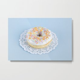Doily Donut Metal Print