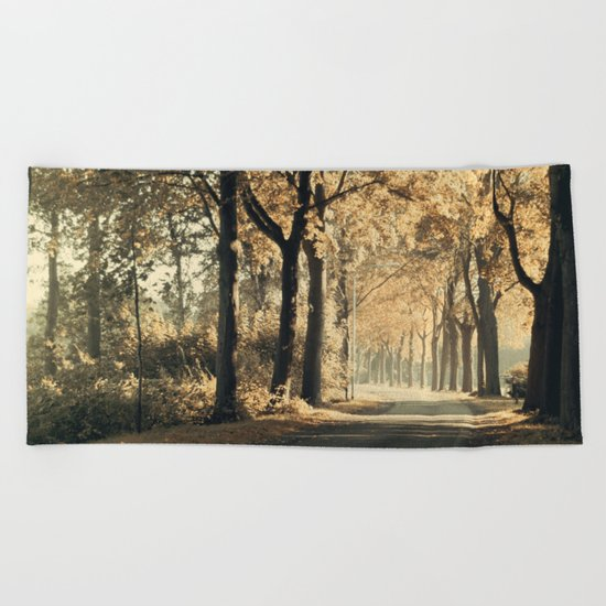 Autumn scenery #1 Beach Towel