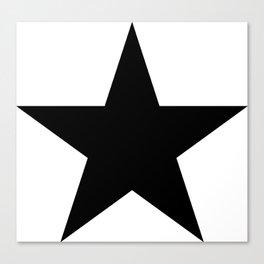 Black star t shirts cotton jersey clothing Canvas Print