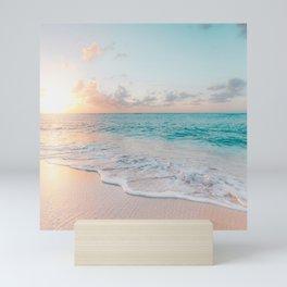 Beautiful tropical turquoise sandy beach photo Mini Art Print