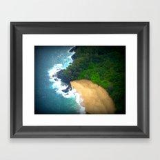 Drop Me Into Paradise Framed Art Print