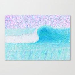 SURF WAVE   WATER COLOR Canvas Print