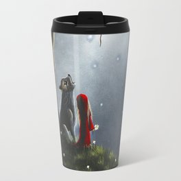 Night With The Lone Wolf by Shawna Erback Travel Mug