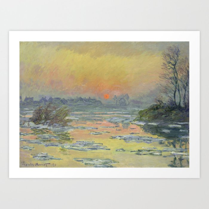 "Claude Monet ""Sunset on the Seine in Winter"" Kunstdrucke"