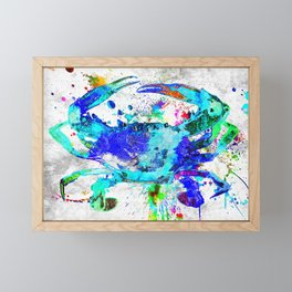 Blue Crab Framed Mini Art Print