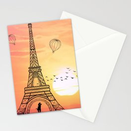 Sunset Eiffel Tower Stationery Cards