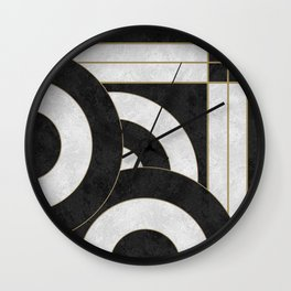 Geometric Marble 01 (abstract) Wall Clock