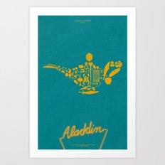 Aladdin Fan Poster Art Print