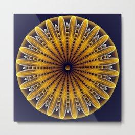 The fractal sunflower Metal Print