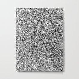 Spacey Melange - White and Black Metal Print