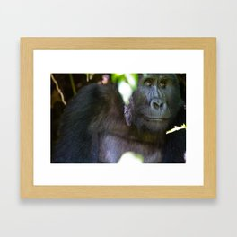 Just Thought of Something Funny. Framed Art Print