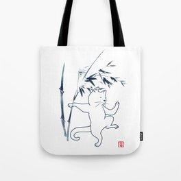 Tai Chi Cat 03 Tote Bag