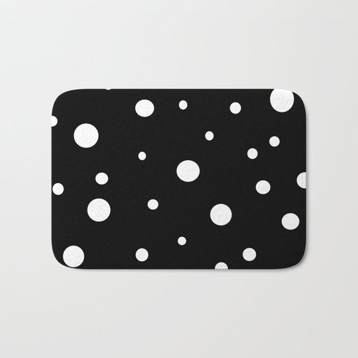 Black and White Polka Dots Bath Mat