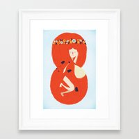 lady Framed Art Prints featuring Foxy Lady by Wharton