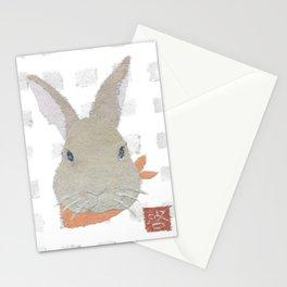 Bunny, Rabbit, Brown, Modern Stationery Cards