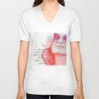 jessica lange V-neck T-shirts featuring Jessica Lange Quote by NameGame