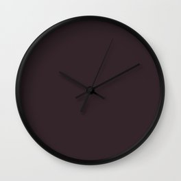 Tread Lightly ~ Mahogany Wall Clock