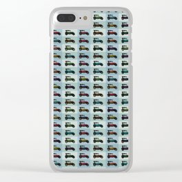 Citroën 5CV Trefle pattern Clear iPhone Case