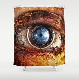 Steampunk camera's eye. Shower Curtain