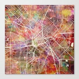 Dallas map 2 Canvas Print