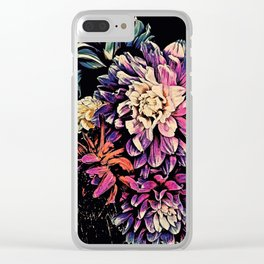 Autumn Dahlia Floral Bouquet Clear iPhone Case