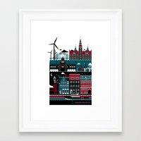 copenhagen Framed Art Prints featuring Copenhagen by koivo
