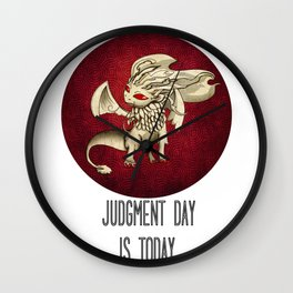 Judgment Dragon inspired card Wall Clock