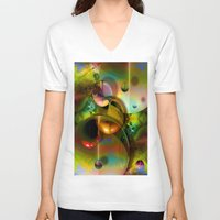 cosmos V-neck T-shirts featuring Cosmos by Robin Curtiss