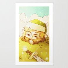 Melancolic Link Art Print
