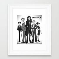 sherlock Framed Art Prints featuring Sherlock by Anna Rettberg