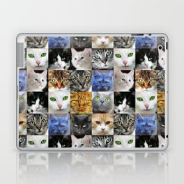 Cat Face Collage Laptop & iPad Skin