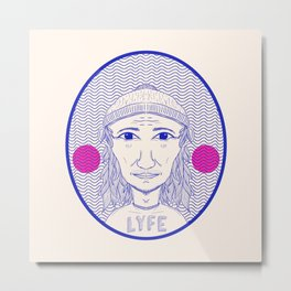 LYFE Metal Print