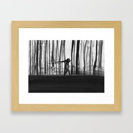 Becoming a tree Framed Art Print