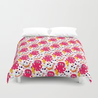 nemo Duvet Covers featuring Sea Creatures by MUSENYO