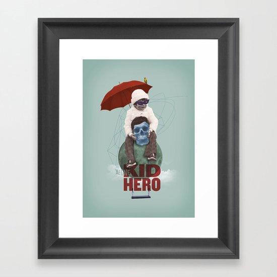KID HERO Framed Art Print