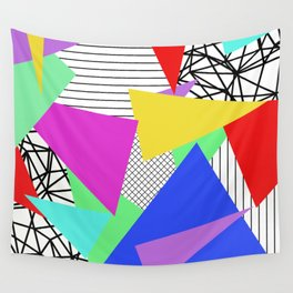 Bits And Pieces - Retro, random, abstract pattern Wall Tapestry