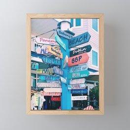 Location Arrows Framed Mini Art Print