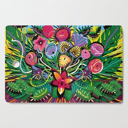 Tropical Flower Arrangement Cutting Board