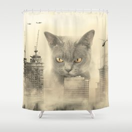 Now I am become Gizmo, destroyer of worlds... and furniture. Shower Curtain