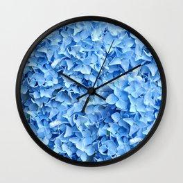 BABY BLUE HYDRANGEAS FLORAL ART Wall Clock