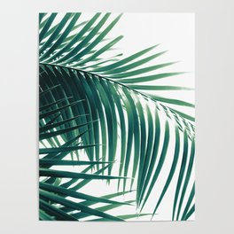 Palm Leaves Green Vibes #6 #tropical #decor #art #society6 Poster