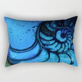 Nautilus Shell No. 987 by Kathy Morton Stanion Rectangular Pillow