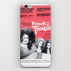 Vintage Female Trouble Movie Poster iPhone & iPod Skin