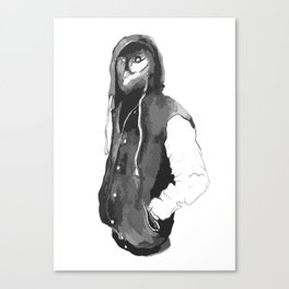 Owl in a hoodie Canvas Print