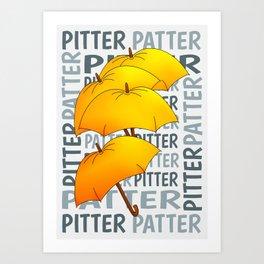 Umbrella  Pitter Patter Art Print