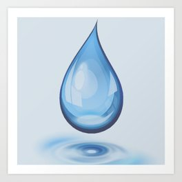 Water Drop Art Art Print