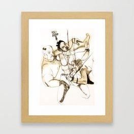 Tristan Corbière, Thick Black Trace, Chanson en Si Framed Art Print