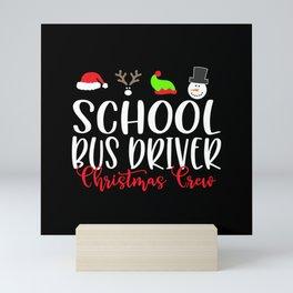 Christmas school bus driver, schoolbus Mini Art Print